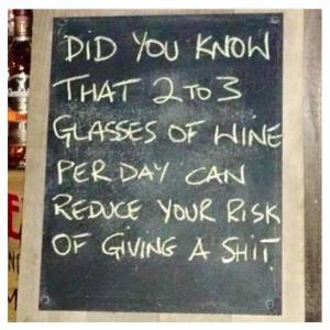 2 or 3 glasses of wine a day