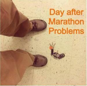 Day after Marathon problems