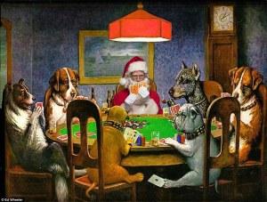 Santa y dogs