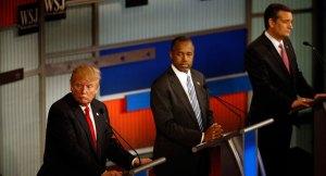 Trump Carson y Cruz