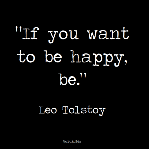 BeIng Happy Leo tolstoy