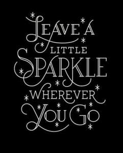 Leave some sparkle