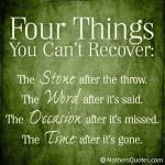 Wk 27 Things you can't recover