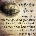 Wk 34 Blink of an eye